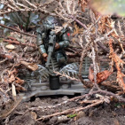 Image of: Ghillie in the woods