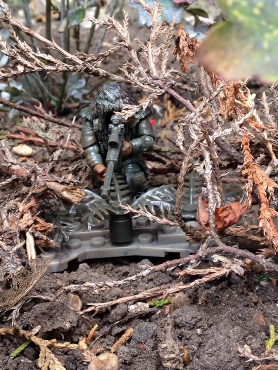 Ghillie in the woods