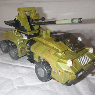 Image of: UNSC Fox Cannon- My take on a cancelled vehicle originally slated to be in the Halo Wars RTS game.