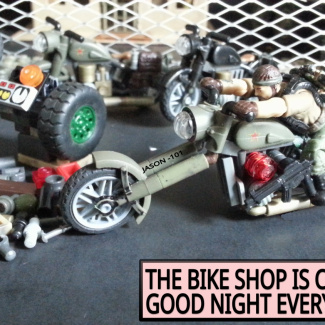 CAMO DAYS. THE BIKE SHOP IS CLOSED.