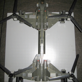 Image of: UNSC UH-288B Dragonfly close-up details