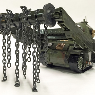 "Image of: M4 Sherman ""Crab"" Mine Clearing Tank Custom Build"