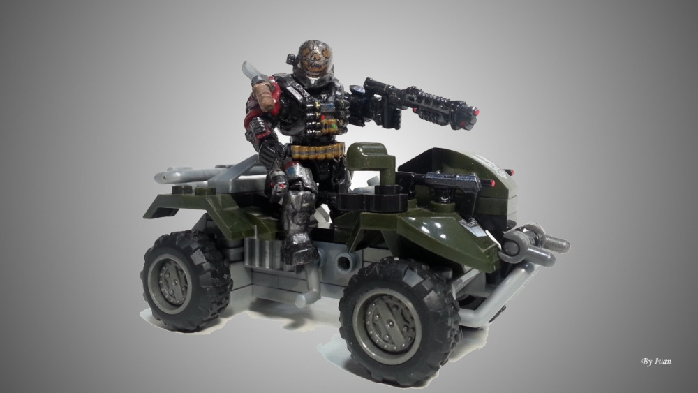 Emile in his vehicle