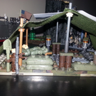 Image of: WW2  themed medic tent
