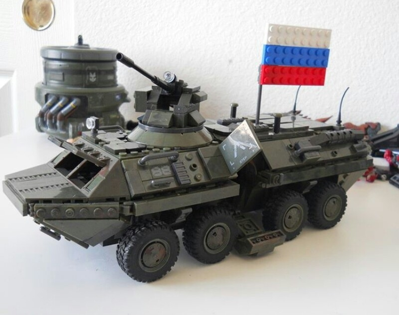 Modern day BTR 80 with accurate door opening