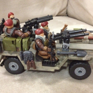 Image of: Recon jeep, 1st Para's.