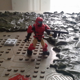 Image of: Custom halo 3 red ODST Pilot
