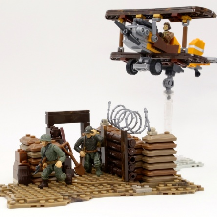 Fly over a trench