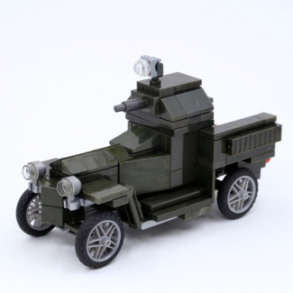 Image of: World War I Rolls Royce armored car (green version)
