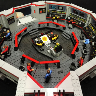 Image of: Complete Bridge – USS Enterprise Mega Bloks Custom Build