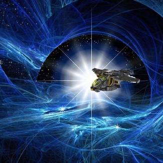 "Image of: ""Engaging Warp Drive"""