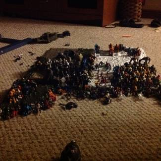 Image of: Every single one of my figures (exactly 202 figs.