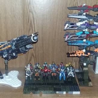 my full collection of destiny mega construx