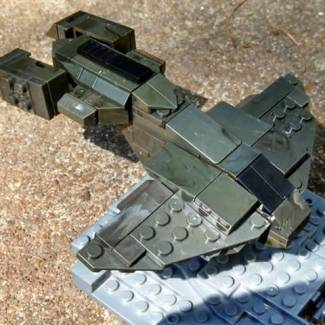 Micro Fleet Halo 3 UNSC Pelican part 2: It's all in the details!