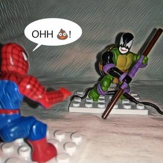Symbiote Donatello might be a problem for Spider man