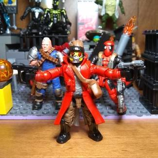My custom StarLord,Cable, &Deadpool