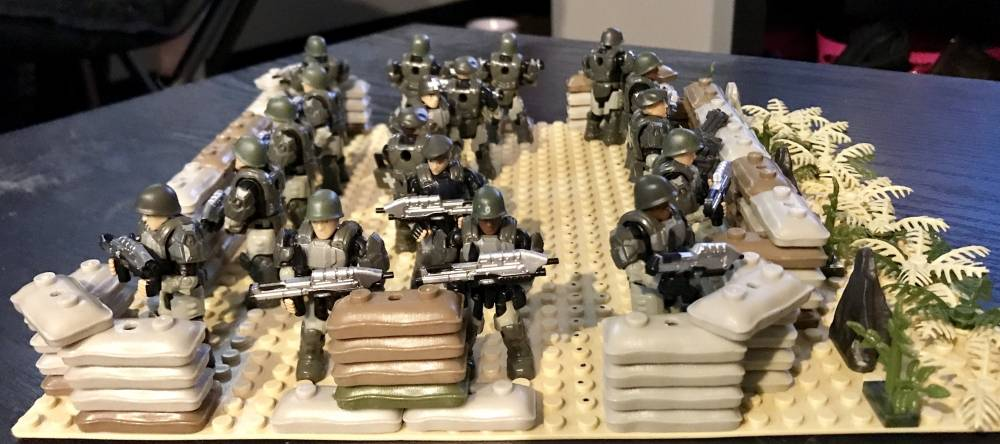 Image of: Troops waiting for evac