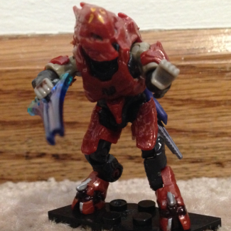 Halo Miniature 6in Red Elite Zealot