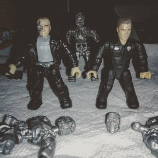 Image of: Repainted the officer from terminator