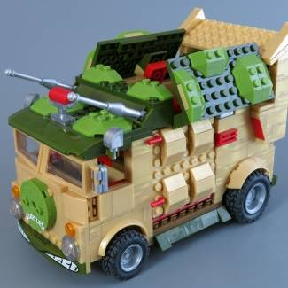 TMNT Classic Party Wagon roof upgrade