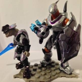 Image of: Halo 5 Swarmlord Hunter and Silver Ultra