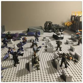Image of: Halo Moc: Fall of Atlas Instalation