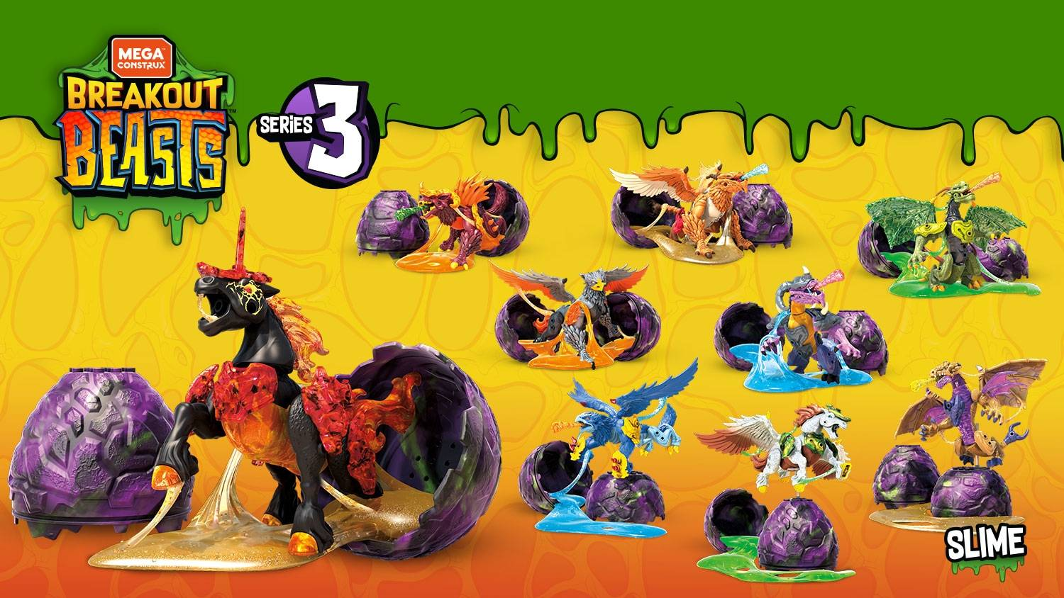 Mega Construx Breakout Beast and Crystal Creatures