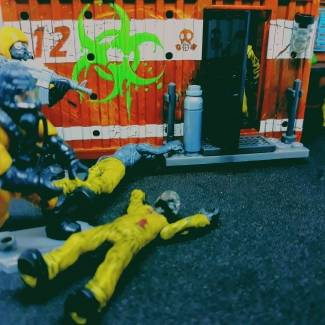 Image of: Hazmat soldiers are getting in a biohazard place .