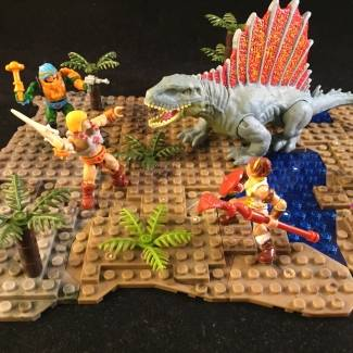 Image of: Eternian dinosaur attack!
