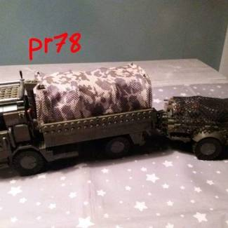 Image of: Made a trailer for my troop transport truck