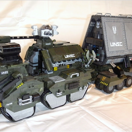 Halo Wars 1 UNSC M312 Elephant Troop Carrier, in-game upgrades & interiors