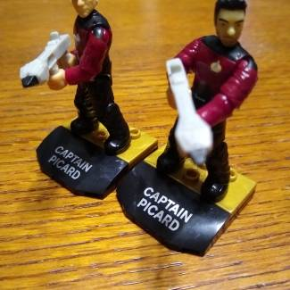 Image of: Captain Picard's and Commander Riker