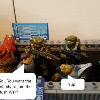 Image of: Infinity joins the Bush War!