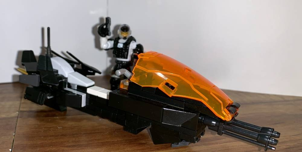 Image of: Custom Police Speeder and Officer