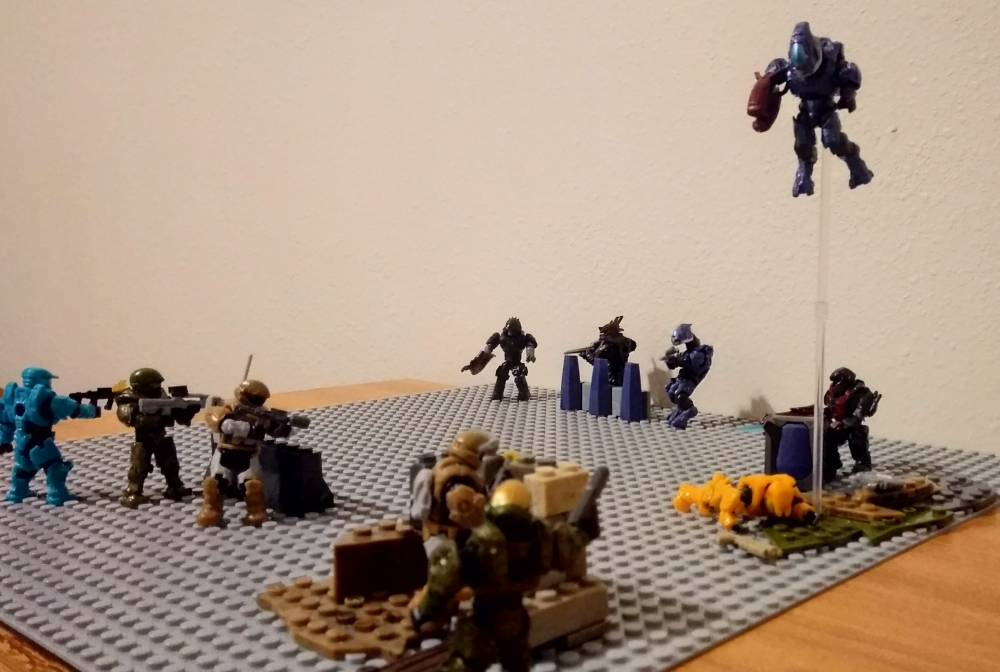 Image of: ODST SQUAD AMBUSH & SPARTAN-IV TEAM BATTLE + BFTA