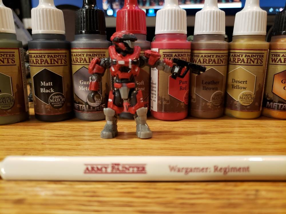 Image of: Halo Mega construx figures + The Army Painter=awesome customs part 2