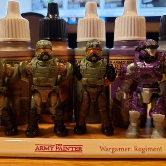 Image of: Halo Mega construx figures + The Army Painter=awesome customs part 3