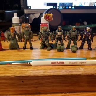 Image of: Halo figures and warpaint part 5
