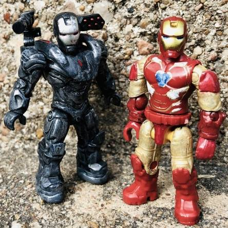 Custom War Machine and Iron Man