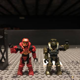Image of: #Favourite Figures Master Chief Mark V and Spartan Recruit