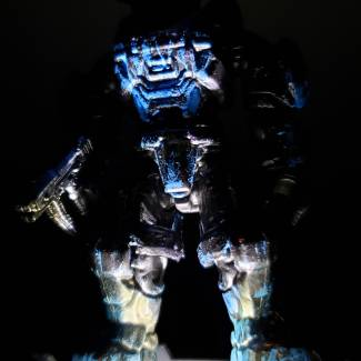 Image of: HAUNTED flaming SPARTAN nightmare