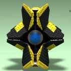 Image of: Destiny yellow ghost (after render)
