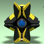Destiny yellow ghost (after render)