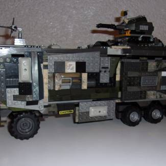 "Image of: UNSC M-987 ""Mule"" Heavy Personnel Carrier WIP 2 (Build Finished)"