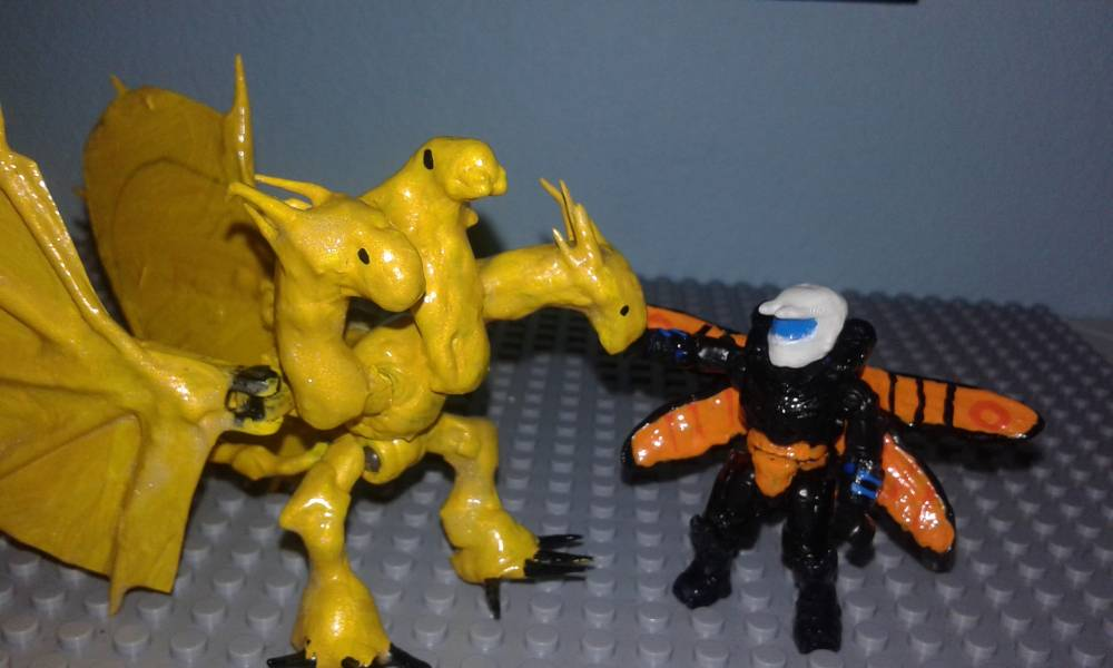 Image of: King Ghidorah custom figure
