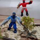 Image of: Red and Blue ninjas