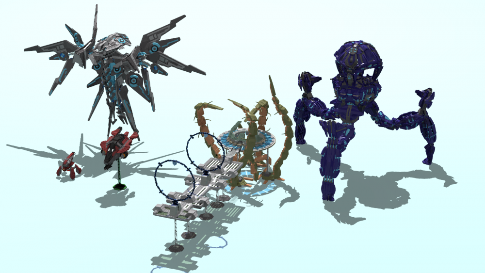 Image of: All my Halo Models without banished Scarab