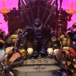 Image of: Up close photo of lady of skulls throne
