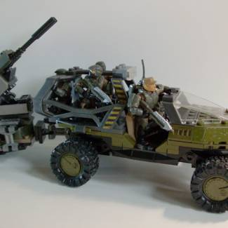 Image of: Troop Transport Warthog and AA Turret