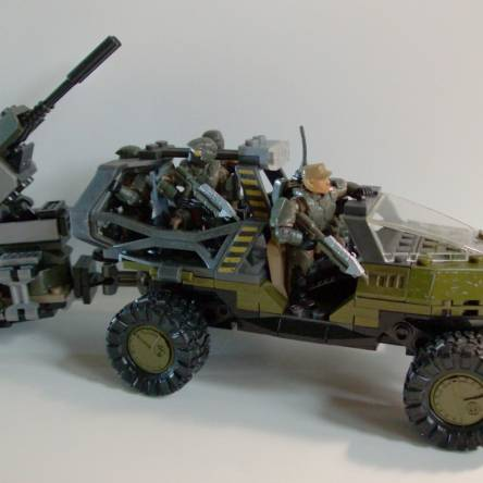 Troop Transport Warthog and AA Turret